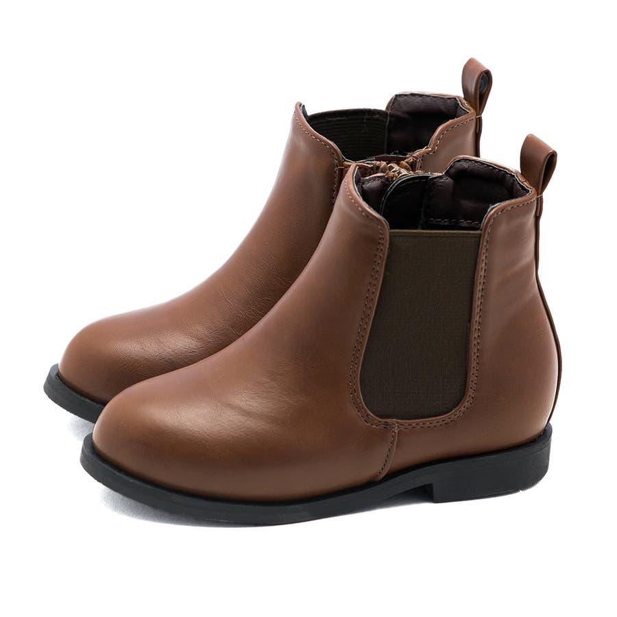 キッズ サイドゴア ブーツ サイドゴアブーツ 内側サイドジップ ショートブーツ 1.5cmヒール 痛くない 歩きやすい疲れない滑りにくい 防寒 ラウンドトゥ ローヒール ぺたんこ フラットヒール キッズシューズ 31