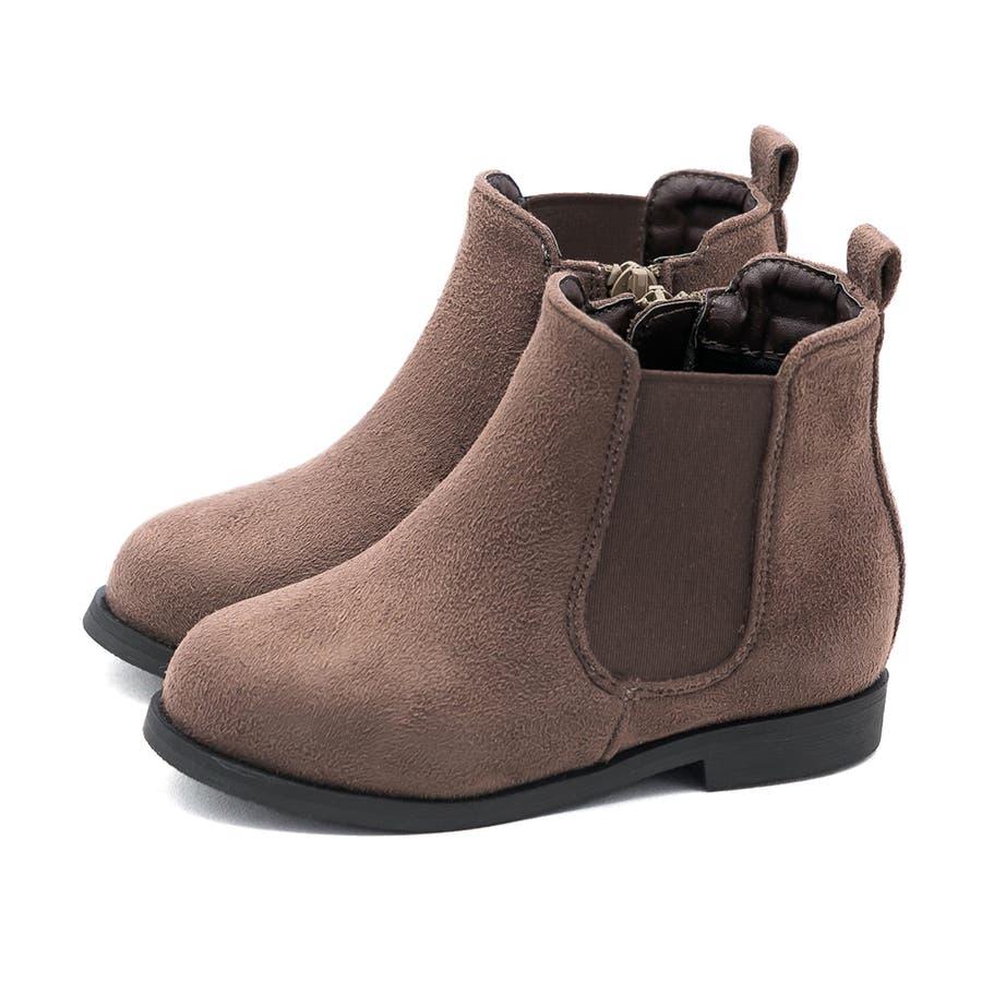 キッズ サイドゴア ブーツ サイドゴアブーツ 内側サイドジップ ショートブーツ 1.5cmヒール 痛くない 歩きやすい疲れない滑りにくい 防寒 ラウンドトゥ ローヒール ぺたんこ フラットヒール キッズシューズ 40
