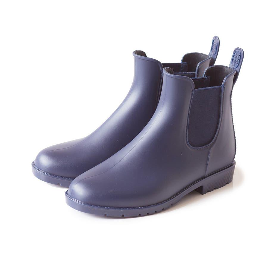 サイドゴア レインブーツ 完全防水 防水 レディース レイン ブーツ ショートブーツ レインシューズ 2cmヒール サイドゴアブーツ歩きやすい 大きいサイズ 小さいサイズ フラットヒール 雨 64