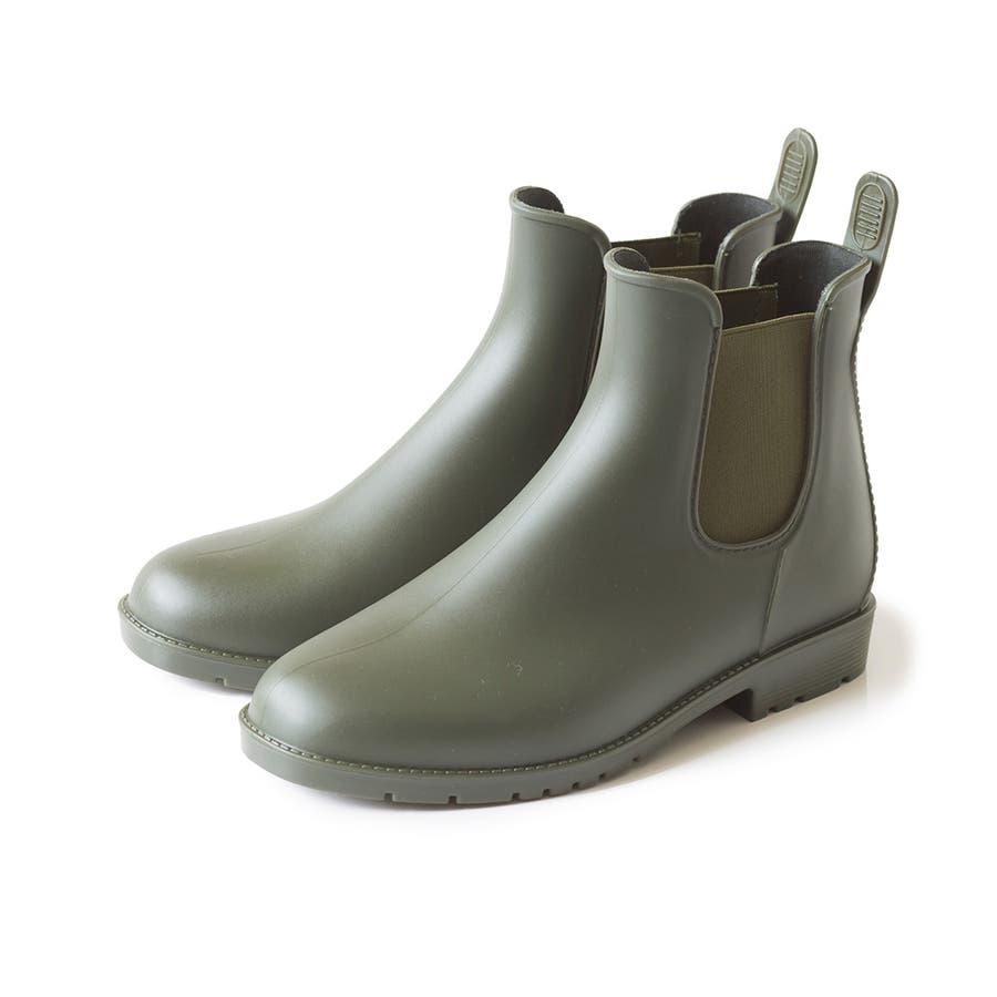 サイドゴア レインブーツ 完全防水 防水 レディース レイン ブーツ ショートブーツ レインシューズ 2cmヒール サイドゴアブーツ歩きやすい 大きいサイズ 小さいサイズ フラットヒール 雨 53
