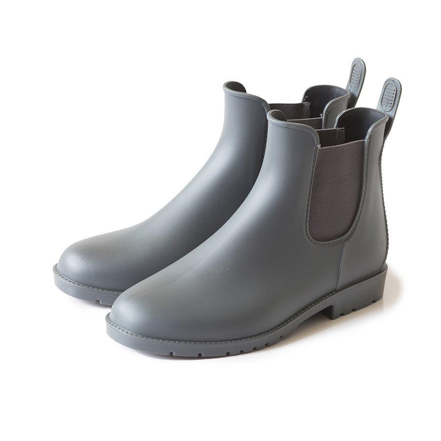 サイドゴア レインブーツ 完全防水 防水 レディース レイン ブーツ ショートブーツ レインシューズ 2cmヒール サイドゴアブーツ歩きやすい 大きいサイズ 小さいサイズ フラットヒール 雨 23