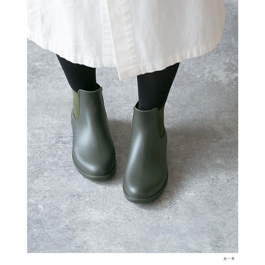 サイドゴア レインブーツ 完全防水 防水 レディース レイン ブーツ ショートブーツ レインシューズ 2cmヒール サイドゴアブーツ歩きやすい 大きいサイズ 小さいサイズ フラットヒール 雨 3