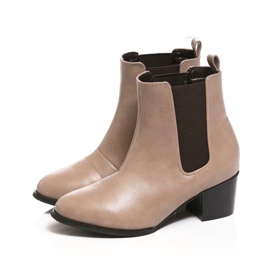 5cmヒール サイドゴア ショートブーツ レディース ヒール 大きいサイズ 黒 サイドゴア ショート ブーティ 美脚 menueメヌエアウトレットシューズ マニッシュシューズ 靴 小さい サイドゴアブーツ 108