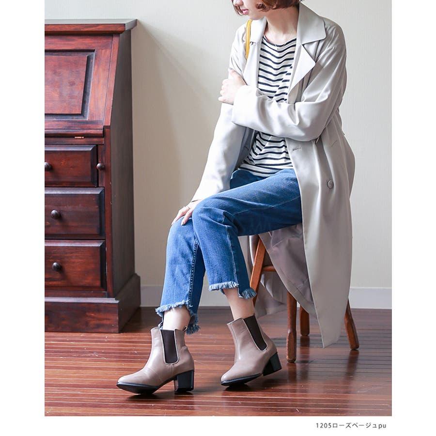 5cmヒール サイドゴア ショートブーツ レディース ヒール 大きいサイズ 黒 サイドゴア ショート ブーティ 美脚 menueメヌエアウトレットシューズ マニッシュシューズ 靴 小さい サイドゴアブーツ 6