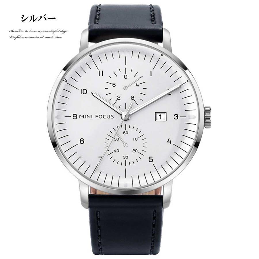 d8392a09e8 メンズウォッチ メンズ 時計 ジェニュインレザーメンズウォッチ 腕時計 ...