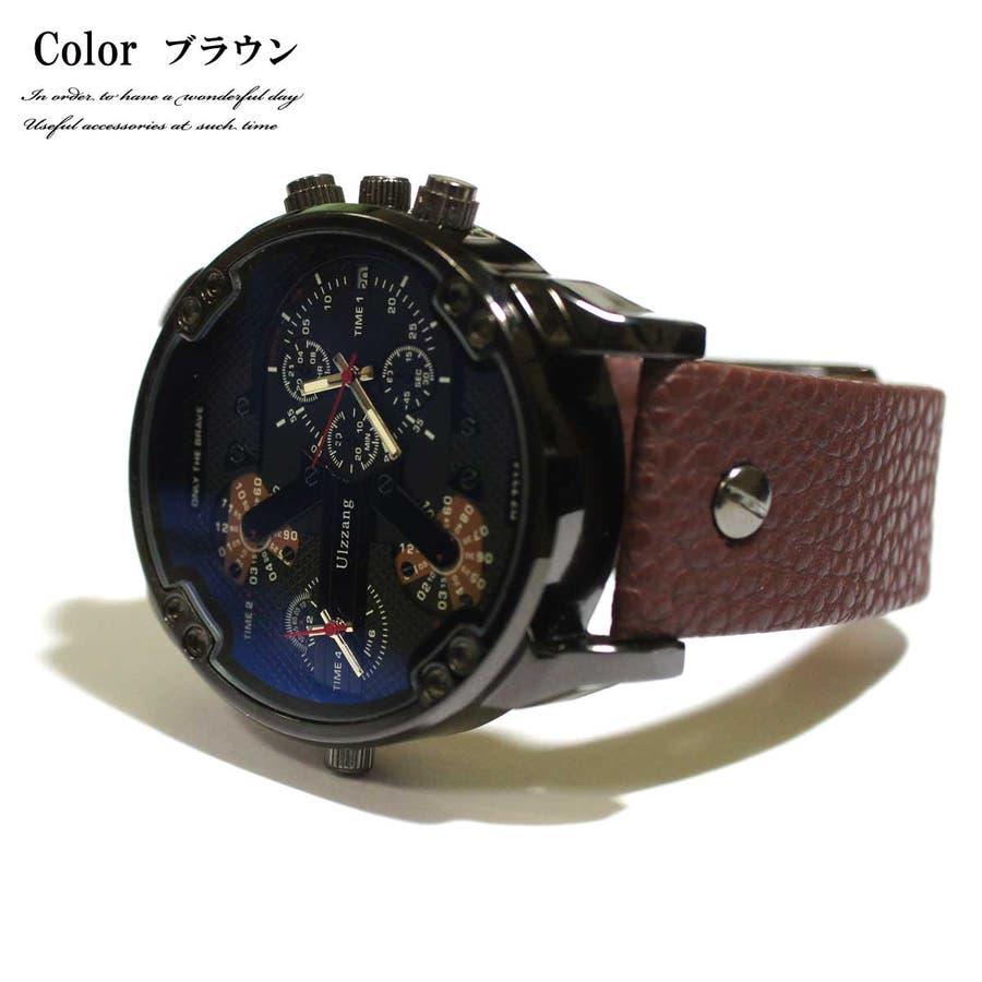 a5b0e7dd7c メンズウォッチ メンズ 時計 ビッグフェースメンズウォッチ 腕時計 ...