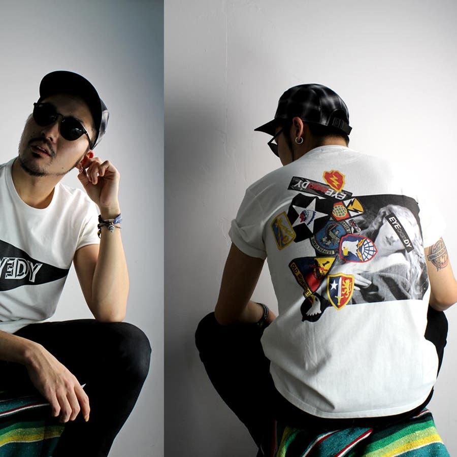 コスパがいいと思う! メンズファッション通販アイディー  EYEDY  WAPPENN T Tシャツ 大きいサイズ XXL XXXL ビッグサイズ 西海岸 ワーク系ルード系ストリート系 唐突