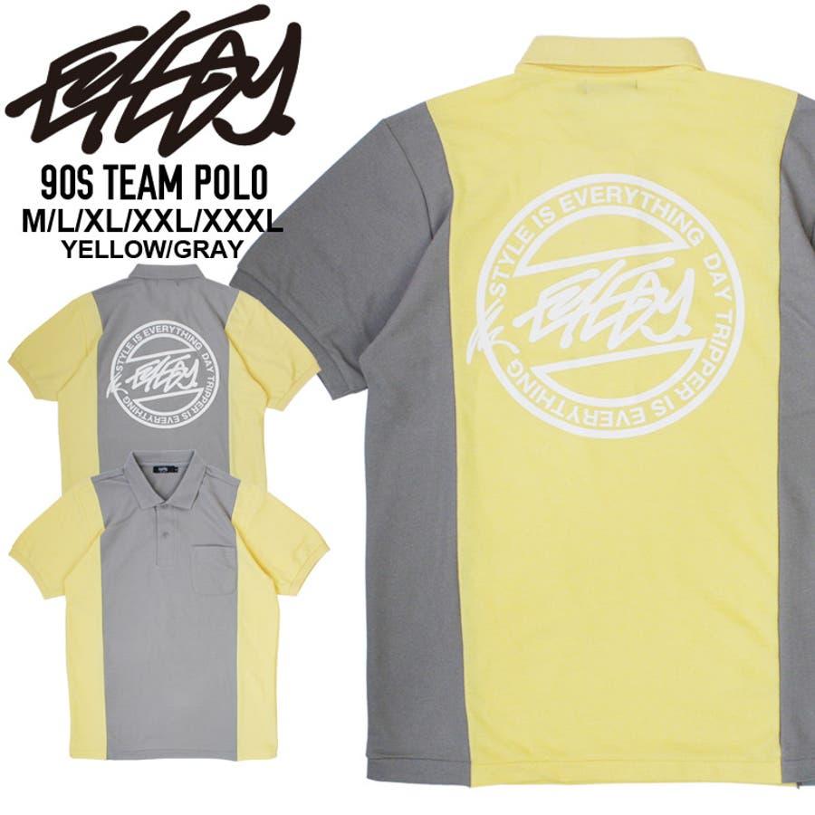 12fce6d875de87 EYEDY 大きいサイズ メンズ ロゴ 半袖 ポロシャツ デザイン プリント かっこいい おしゃれ 人気 安い ブランド ビッグサイズ
