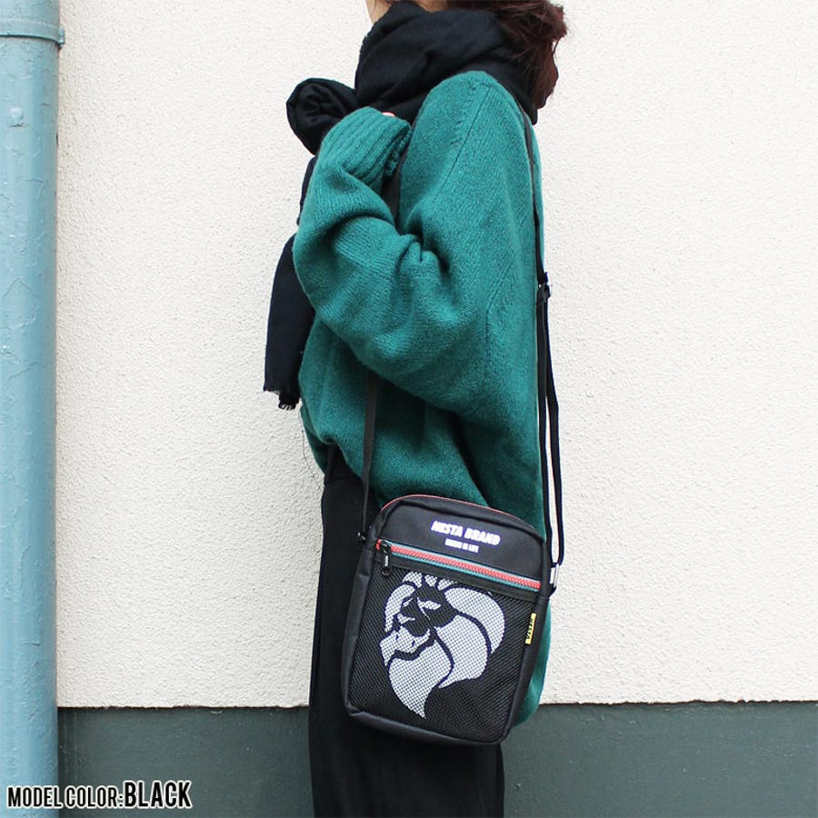 NESTA BRAND ネスタブランド 縦型 メッシュポケット ショルダーバッグ ポーチ ウエストバッグ ボディバッグ ベージュグリーンブラック かっこいい おしゃれ 人気 安い ブランド 通勤 通学 アウトドア 2