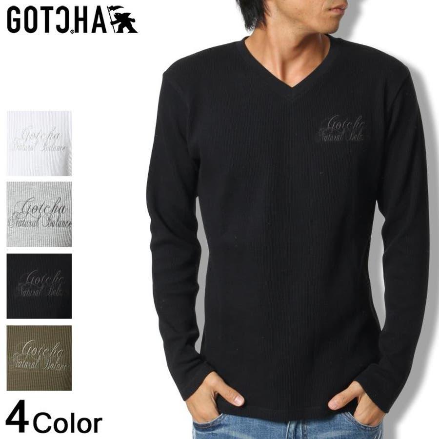 格好いいです ガッチャ GOTCHA Tシャツ 長袖 ロンT ロンティーTEE 2016秋冬 新作 メンズ      メンズファッション 秋冬 獄舎