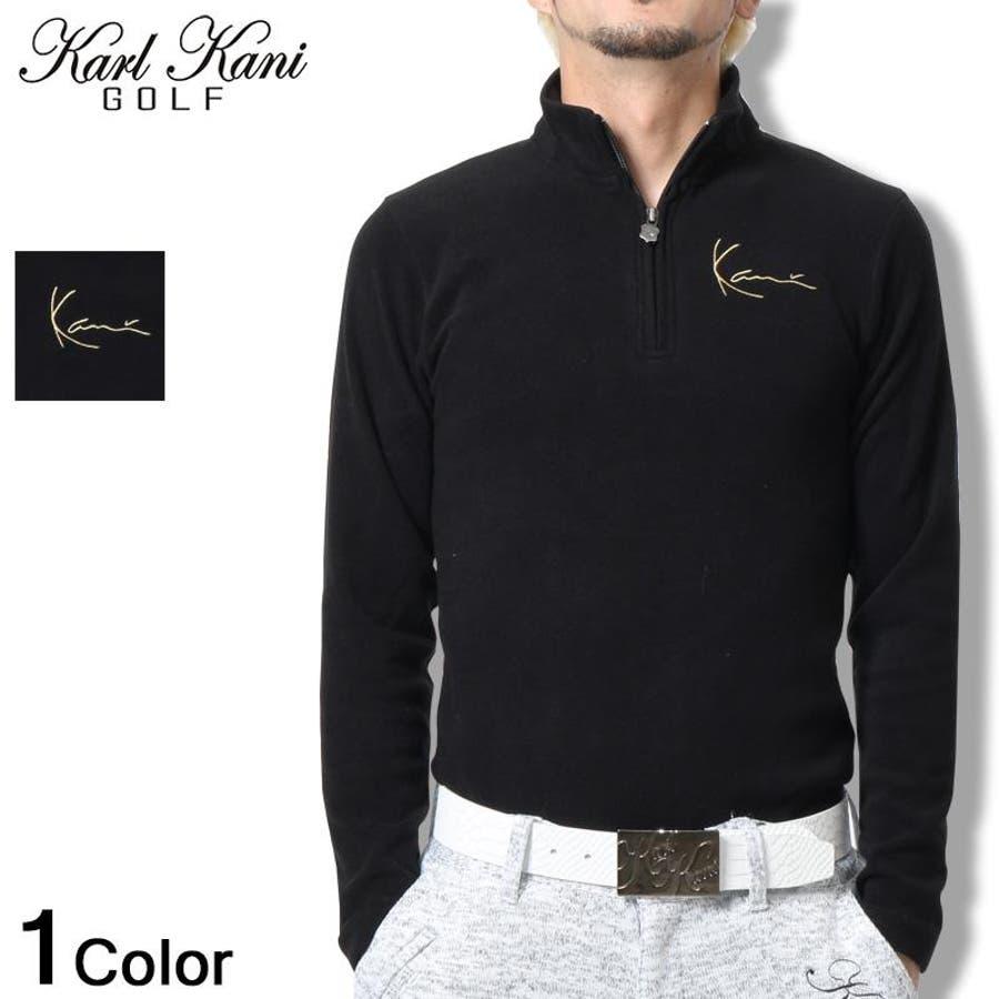 これからの時期いっぱい愛用します Karl Kani GOLF カール カナイ ゴルフ Tシャツ 長袖 ロンT ジップゴルフ ファッション 2016秋冬 新作 黒メンズ     11c   メンズファッション 秋冬 群衆