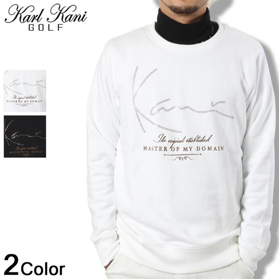 色んな服に合わせられる Karl Kani GOLF カール カナイ ゴルフ トレーナー スウェット ラインストーンゴルフ ファッション 2016秋冬 新作黒 白 メンズ     11c   メンズファッション 秋冬 午餐