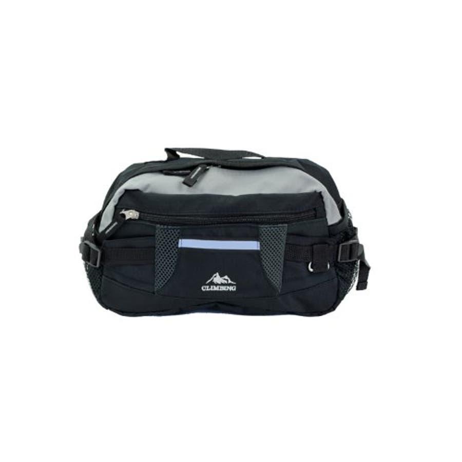 ウエストポーチ ヒップバッグ ウエスト バッグ バック 斜めがけ ボディバッグ メンズ レディース CLIMBING7176スポーティなウエストポーチ (mk-7176) 鞄 カバン かばん 携帯 財布 鍵 収納反射テープ付きで安心ボディーバッグとしても使用可能 6