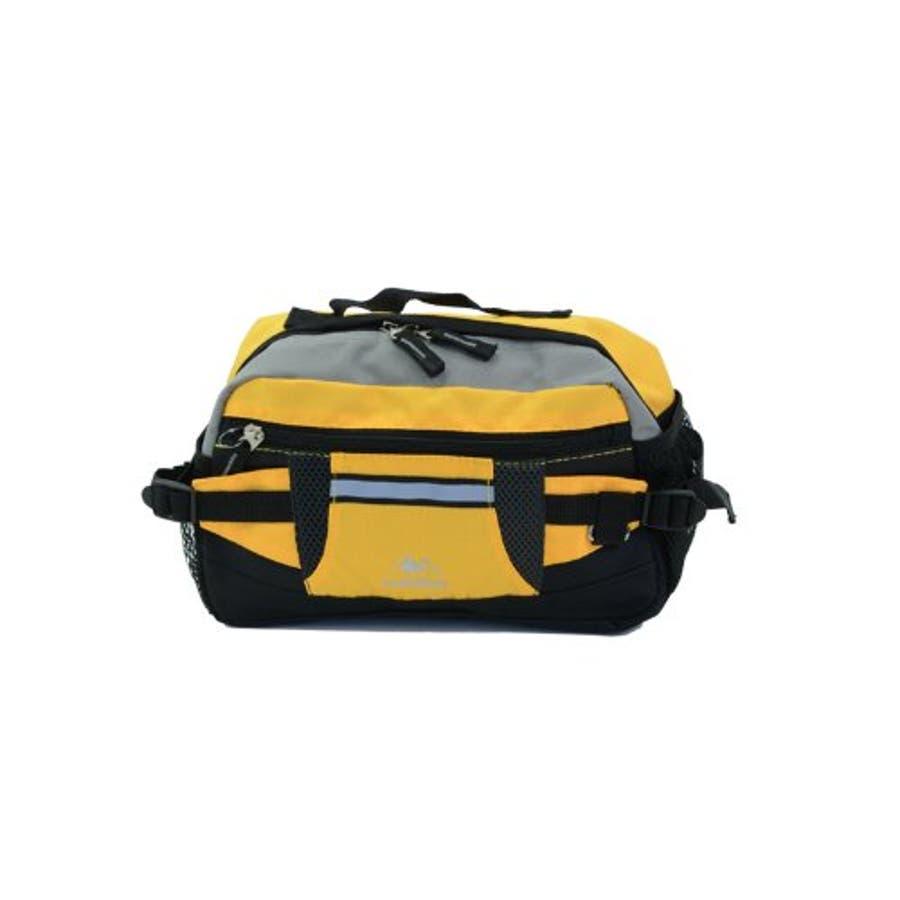 ウエストポーチ ヒップバッグ ウエスト バッグ バック 斜めがけ ボディバッグ メンズ レディース CLIMBING7176スポーティなウエストポーチ (mk-7176) 鞄 カバン かばん 携帯 財布 鍵 収納反射テープ付きで安心ボディーバッグとしても使用可能 9