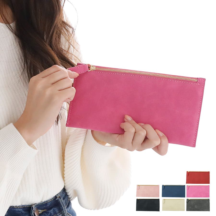 b7fbdab5a1dd 薄型 長財布 レディース 小物入れ 薄い財布 薄型 財布 スリム 財布 ...