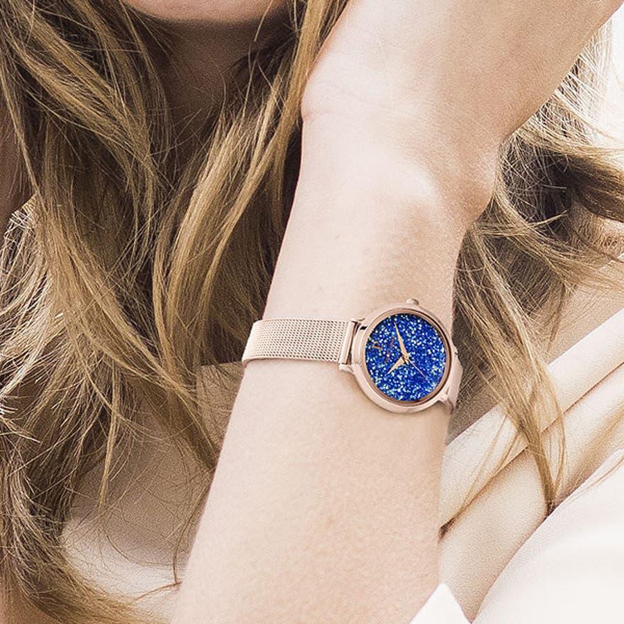 ピエールラニエ きらきら プティクリスタル ウォッチ メッシュベルト レディース腕時計 丸形 スワロフスキークリスタル 10