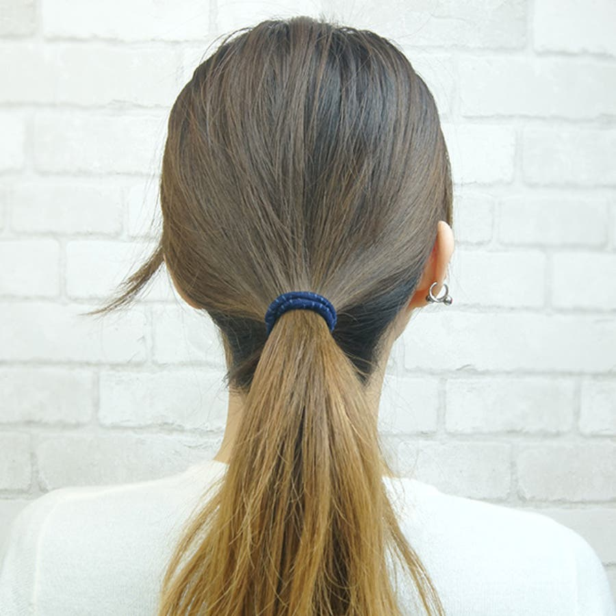 ヘアゴム ヘアアクセサリー 静電気軽減商品 まとめ髪 リングゴム シンプル 輪っかゴム 7