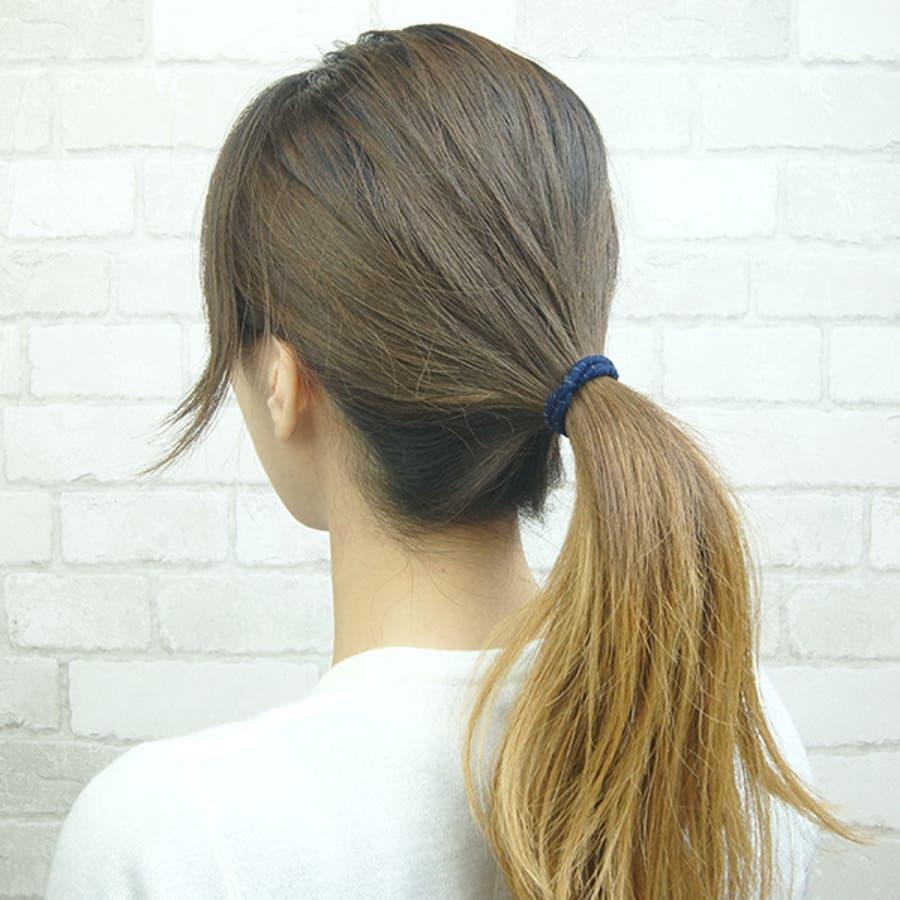 ヘアゴム ヘアアクセサリー 静電気軽減商品 まとめ髪 リングゴム シンプル 輪っかゴム 8