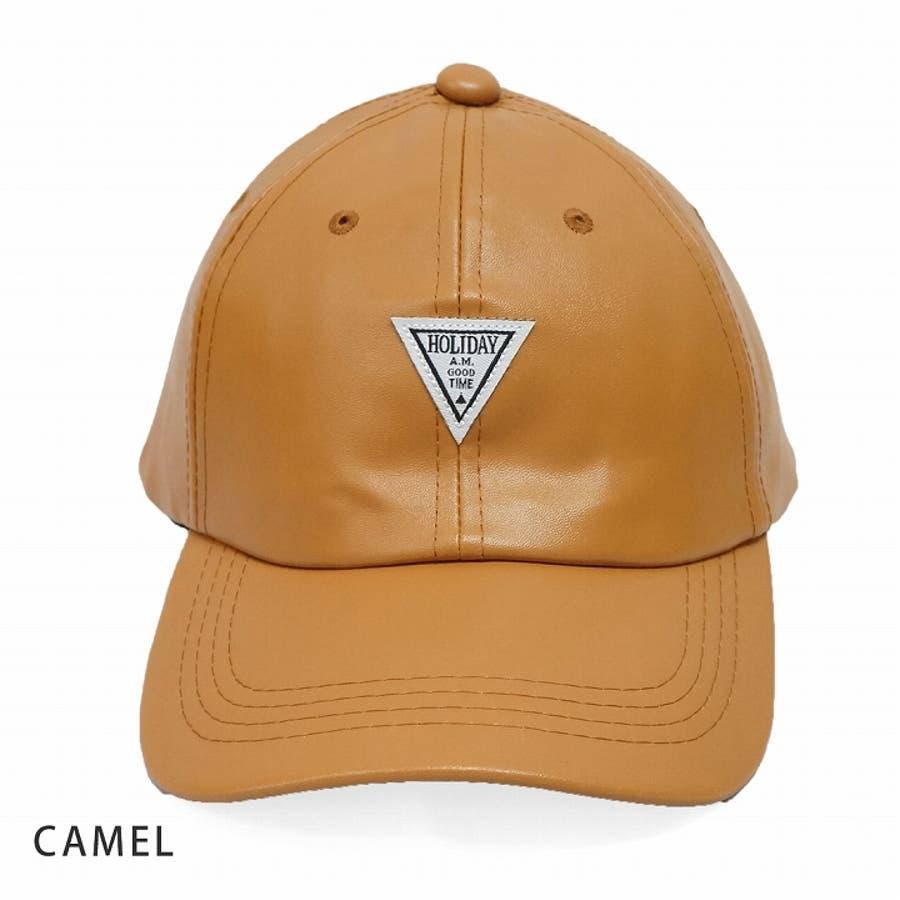 帽子 キャップ メンズ レディース 春秋冬 ベースボールキャップ 合成皮革 ワッペン 2