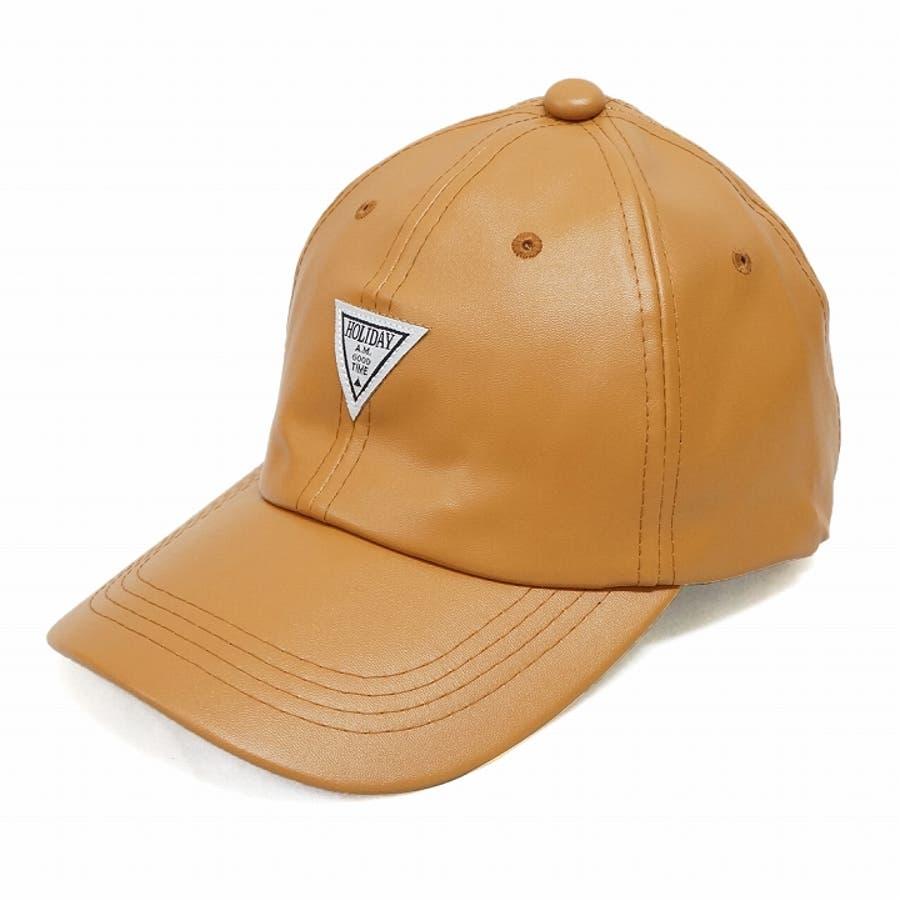 帽子 キャップ メンズ レディース 春秋冬 ベースボールキャップ 合成皮革 ワッペン 3