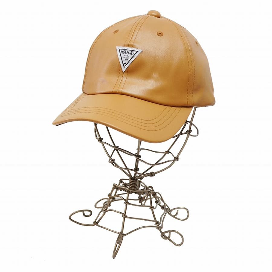 帽子 キャップ メンズ レディース 春秋冬 ベースボールキャップ 合成皮革 ワッペン 4