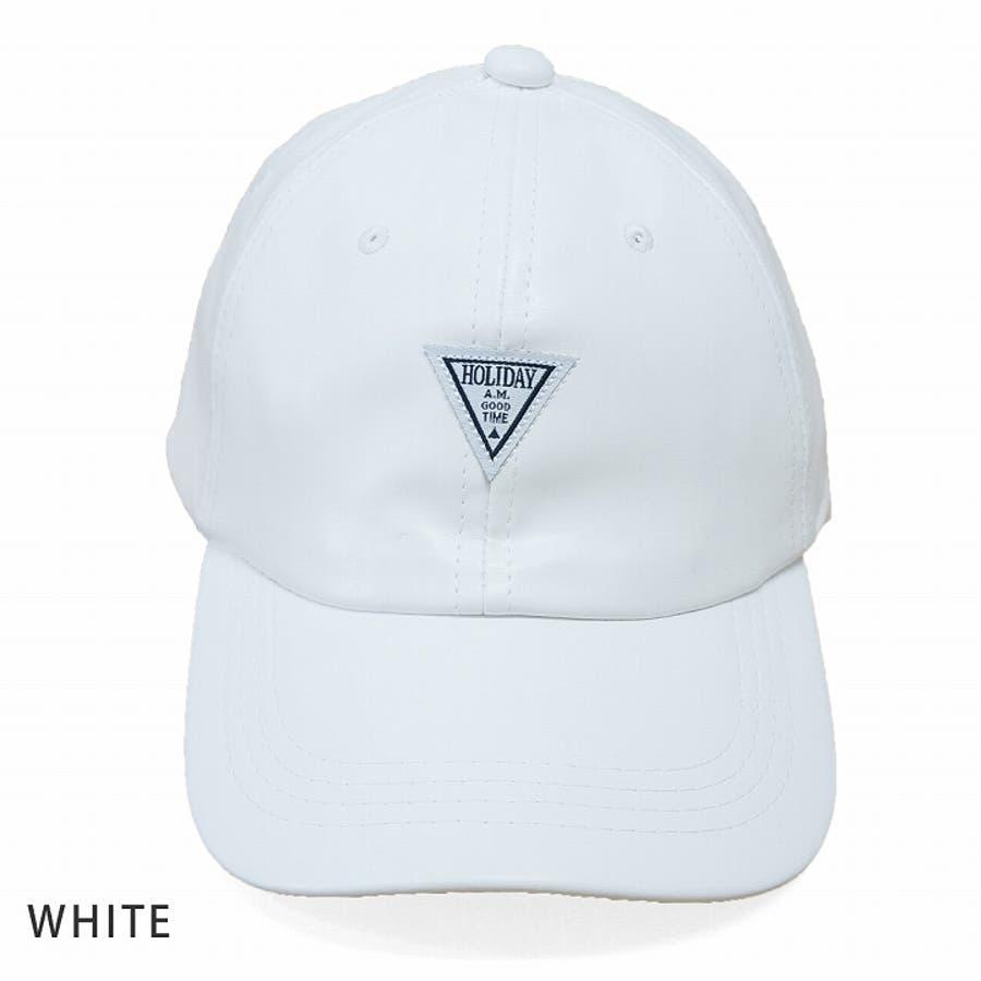 帽子 キャップ メンズ レディース 春秋冬 ベースボールキャップ 合成皮革 ワッペン 5