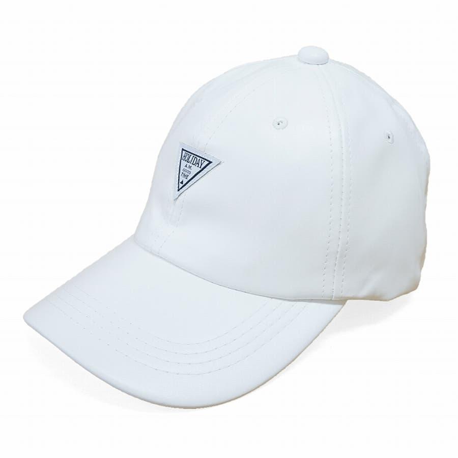 帽子 キャップ メンズ レディース 春秋冬 ベースボールキャップ 合成皮革 ワッペン 6
