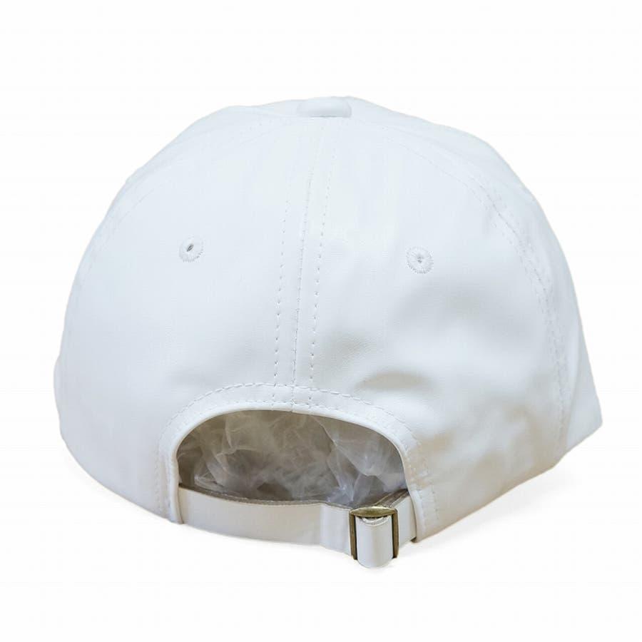 帽子 キャップ メンズ レディース 春秋冬 ベースボールキャップ 合成皮革 ワッペン 7