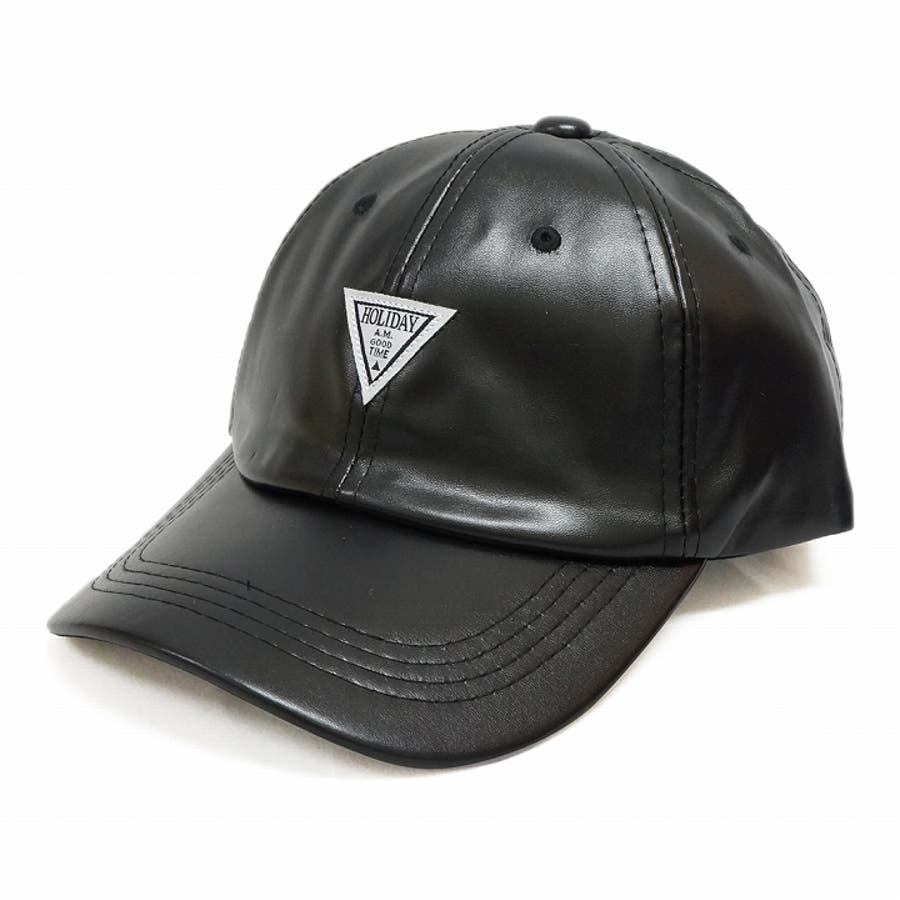 帽子 キャップ メンズ レディース 春秋冬 ベースボールキャップ 合成皮革 ワッペン 9