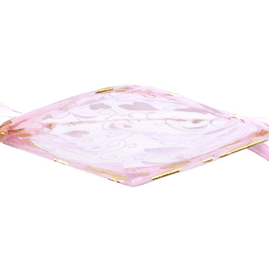 ポーチ レディース 春夏秋冬 四角巾着 素材調査中 シースルー ハート柄 50枚入り 9