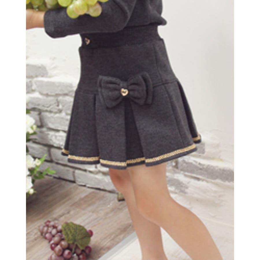 プリーツスカート 子供 フォーマル カジュアルAC30 ついに再登場♪ Rora ジュビアンスカート カジュアルの定番スウェット地がおしゃれ度満点のフォーマルにもぴったりプリーツスカートに♪ 童顔