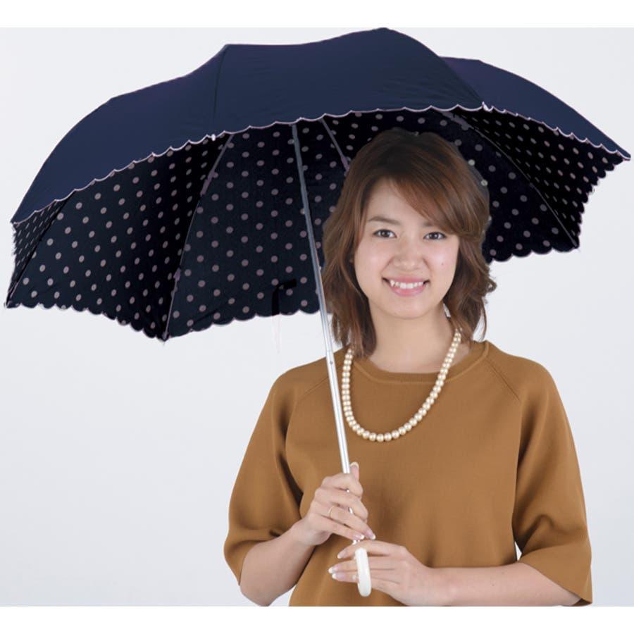 インドット折傘ピンクトリック 可愛い 傘 かさ 雨傘 日傘 晴雨兼用 折たたみ傘 レディース 黒 ブラック 紺 ネイビー ピンク水玉ドット リボン 親骨50cm(センチ) おしゃれ UVカット グラスファイバー 軽量 コンパクト 収納 梅雨 大人 20代30代40代 5