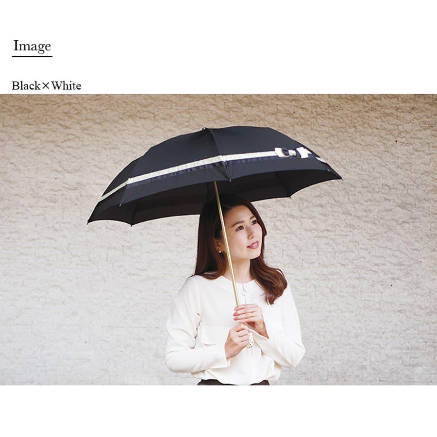 バイカラー折傘ピンクトリック 可愛い 傘 かさ 雨傘 日傘 晴雨兼用 折たたみ傘 レディース リボン 黒 ブラック 紺 ネイビーベージュ 親骨50cm(センチ) おしゃれ UVカット グラスファイバー 軽量 コンパクト 収納 梅雨 大人 20代 30代 40代 2