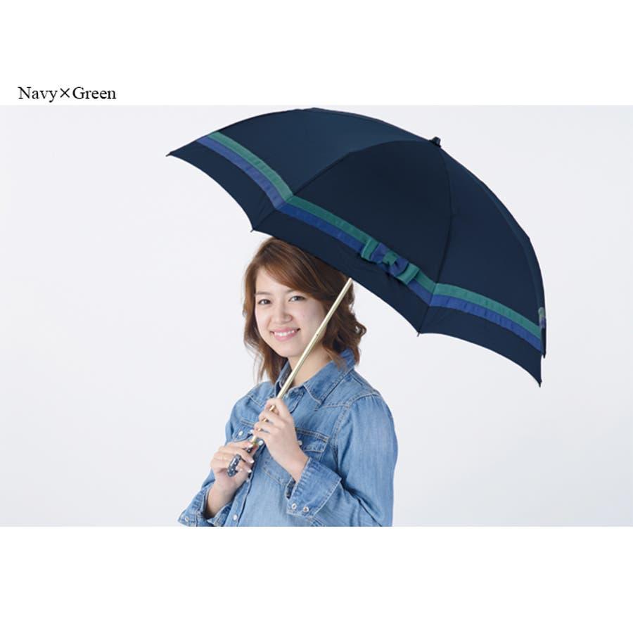 バイカラー折傘ピンクトリック 可愛い 傘 かさ 雨傘 日傘 晴雨兼用 折たたみ傘 レディース リボン 黒 ブラック 紺 ネイビーベージュ 親骨50cm(センチ) おしゃれ UVカット グラスファイバー 軽量 コンパクト 収納 梅雨 大人 20代 30代 40代 3