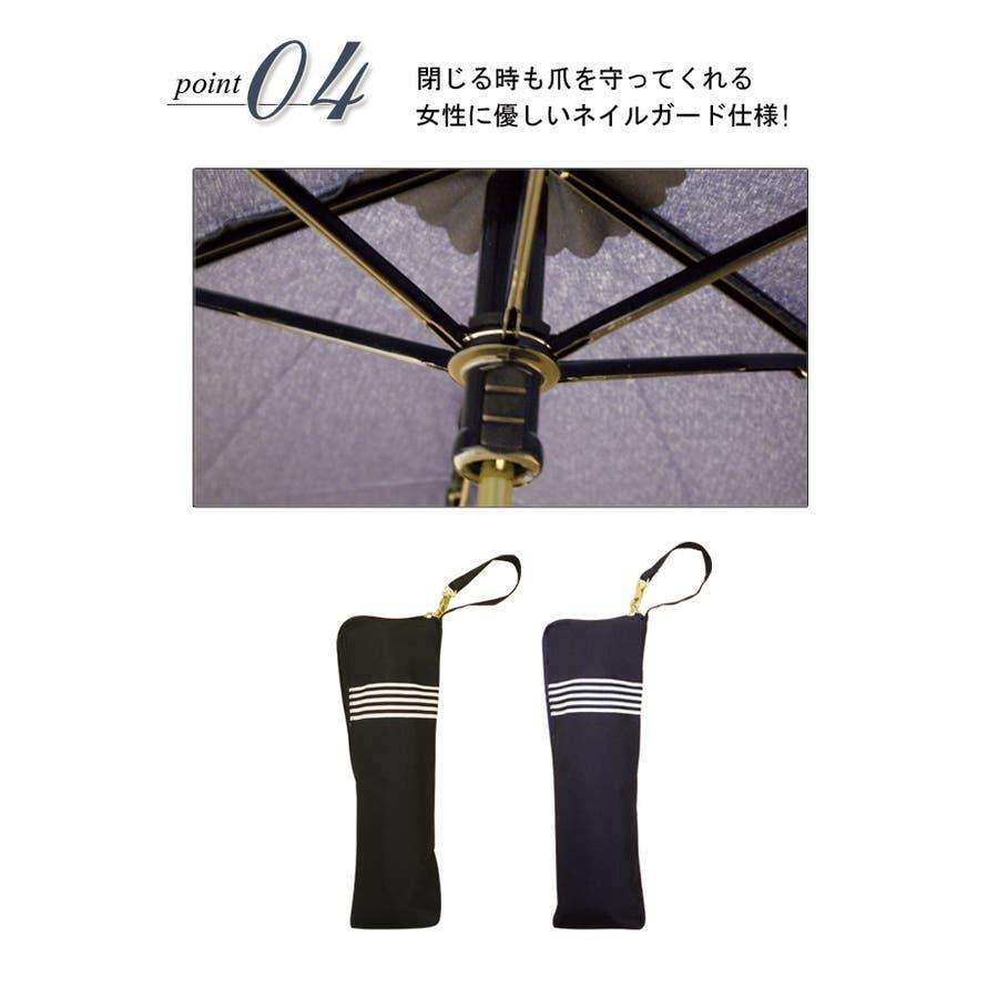 テープリボン折傘ピンクトリック リボン 可愛い 傘 かさ 雨傘 日傘 晴雨兼用 折たたみ傘 レディース 紺 ネイビー 黒 ブラックおしゃれ UVカット グラスファイバー 軽量 コンパクト 収納 梅雨 大人 親骨50cm(センチ) 20代 30代 40代 6