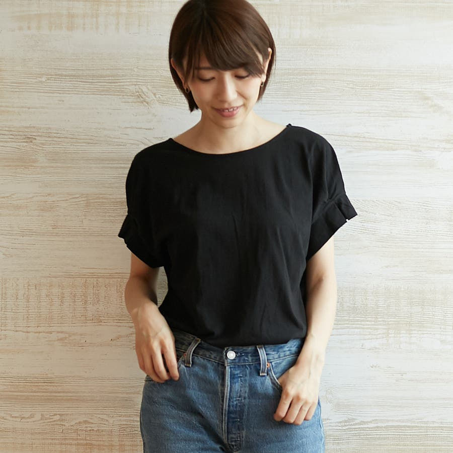 コットンフレアスリーブTシャツ 21