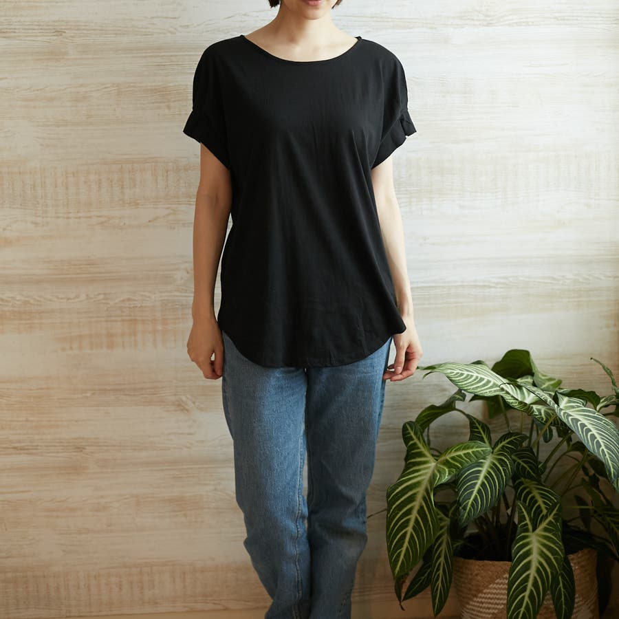 コットンフレアスリーブTシャツ 5