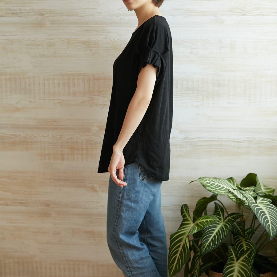 コットンフレアスリーブTシャツ 6