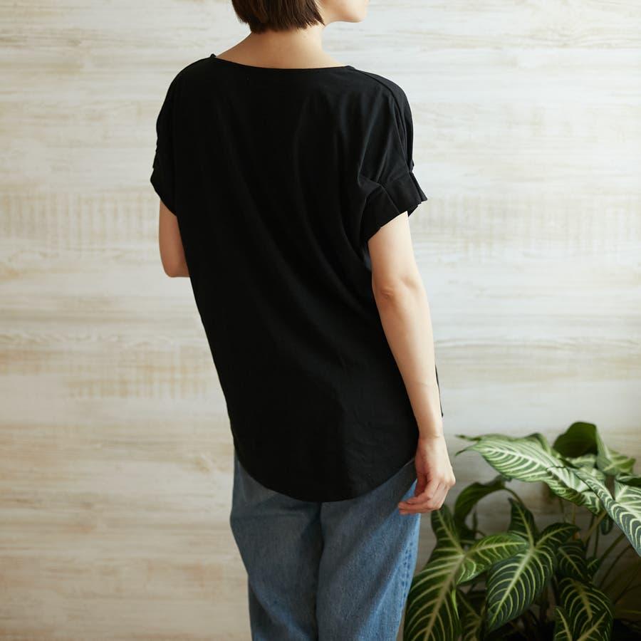 コットンフレアスリーブTシャツ 7