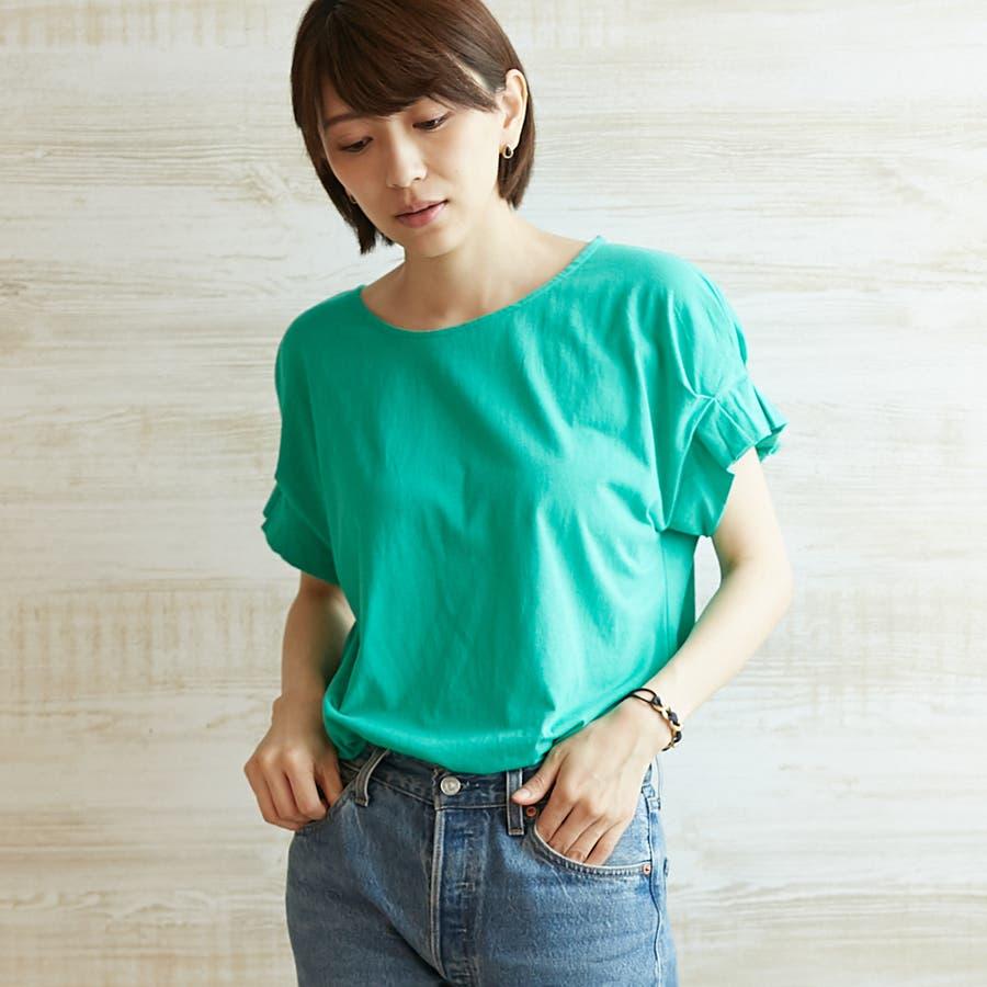コットンフレアスリーブTシャツ 47