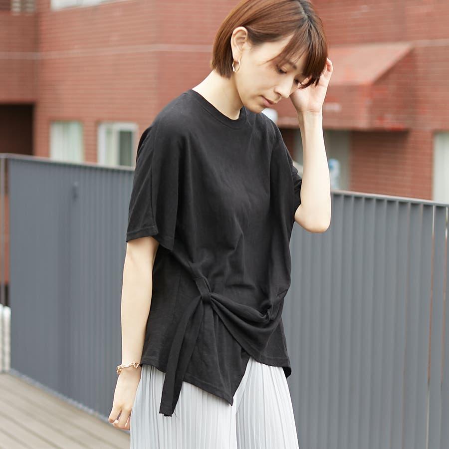 コットンアシンメトリーTシャツ 21
