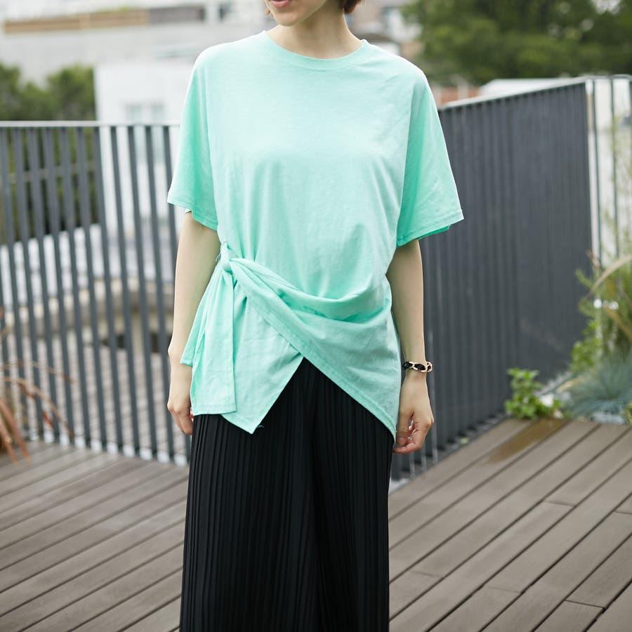 コットンアシンメトリーTシャツ 4