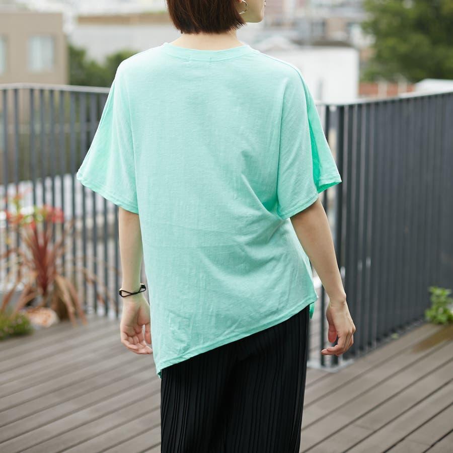 コットンアシンメトリーTシャツ 6