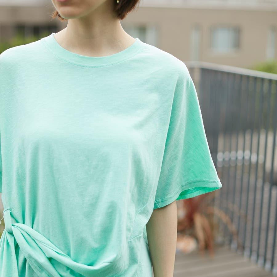 コットンアシンメトリーTシャツ 7