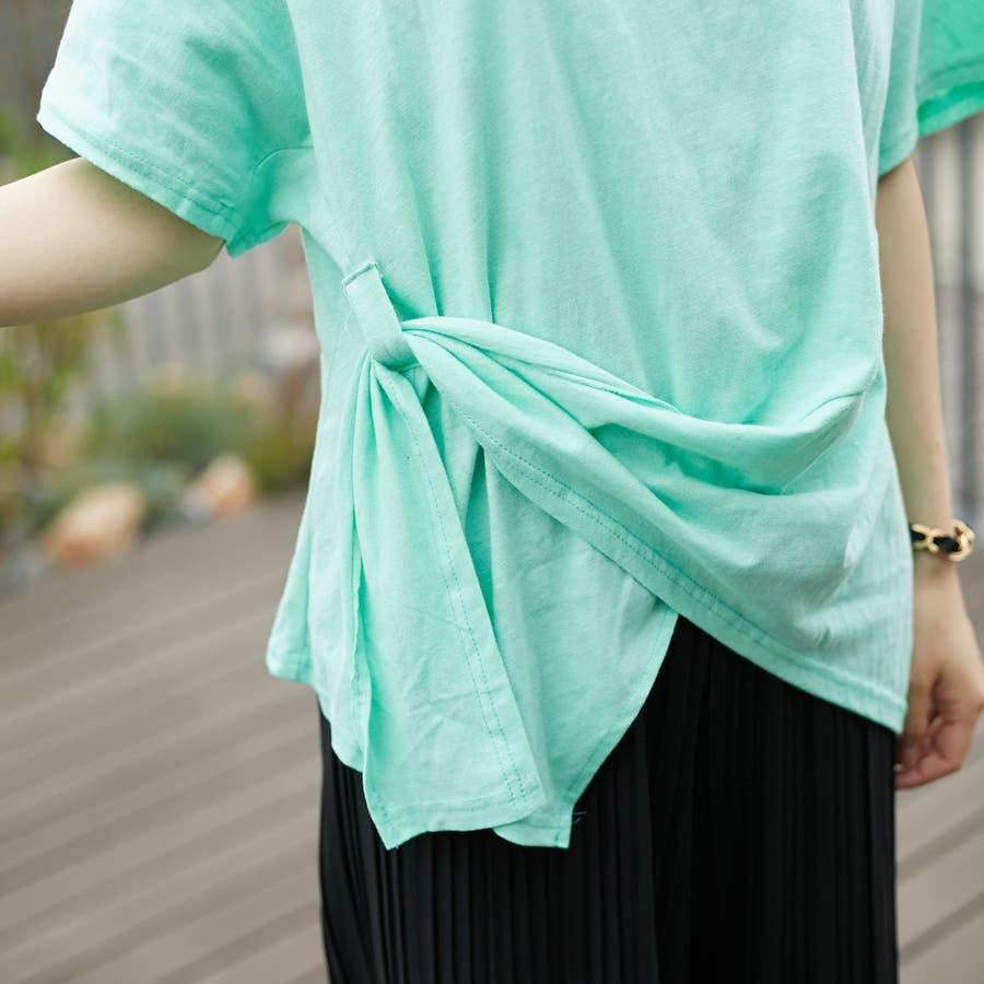 コットンアシンメトリーTシャツ 8