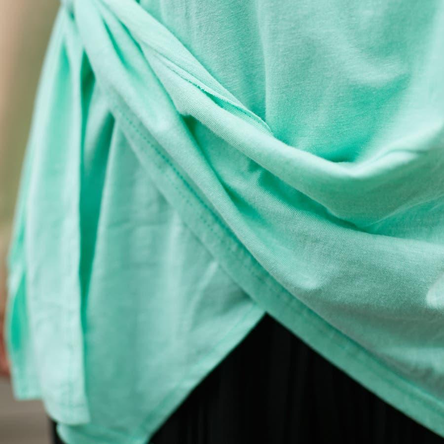 コットンアシンメトリーTシャツ 9