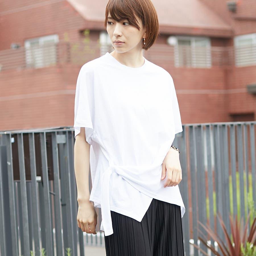 コットンアシンメトリーTシャツ 1
