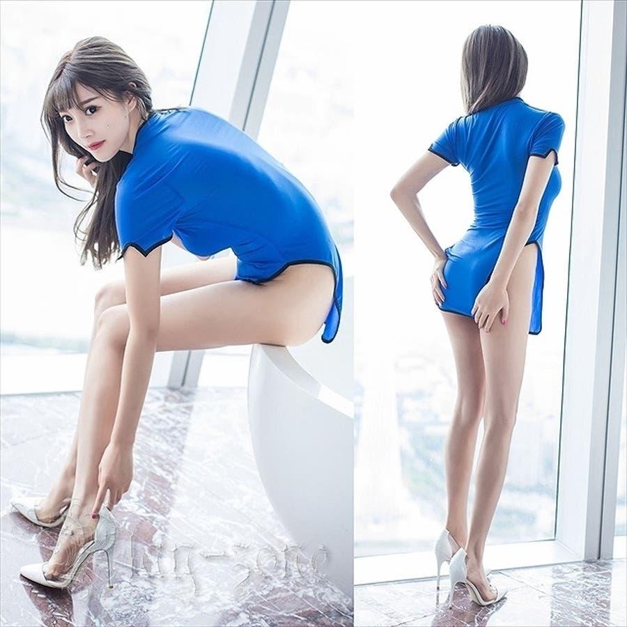 チャイナドレス コスプレ セクシー コスチューム チャイナ 仮装 コスプレ衣装 ボディコン ミニドレス ベビードール 全2色 A118 3