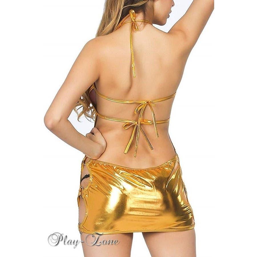 ボディコン ドレス セクシー コスチューム ワンピース ミニ ドレス ダンス イベント コンパニオン レースクイーン コスプレ仮装オールダンス セクシー ドレス メタリック 光沢 全4色 A342 9