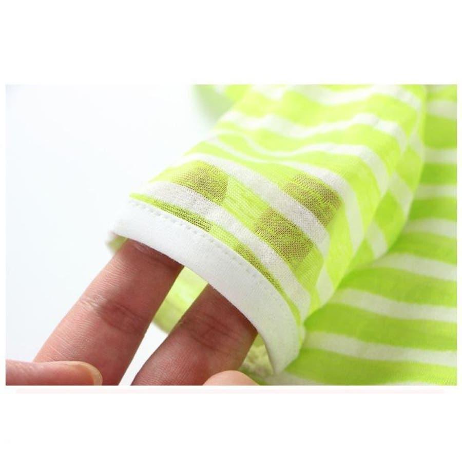 子供用 パーカー ジップアップパーカー フード付き 長袖 ボーダー 刺繍入り 男の子 女の子 キッズ ジュニア 100 110 120130 140 紫外線対策 冷房対策 10